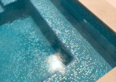 rayleigh scattering effect swimming pool in finestrat benidorm alicante